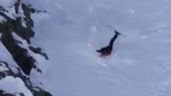 Dramático video: esquiadora cae a los tumbos de una montaña