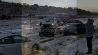 Choque en cadena cierra la I-15 hacia Las Vegas
