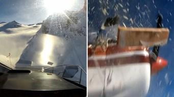 Escalofriante video: choque entre avioneta y helicóptero