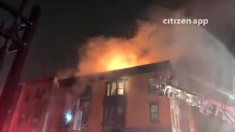 Complejo arde en llamas Clinton Hill, Brooklyn