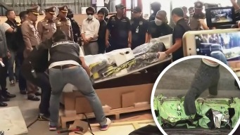 Trucos de los narcos: hallan drogas en caminadoras