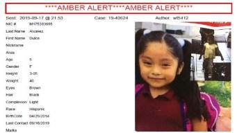 Emiten Alerta Amber en el caso de niña desaparecida