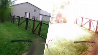 En video: rayo impacta una vivienda y desata un incendio