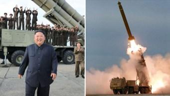 """Imágenes: Kim prueba temible lanzamisiles """"extra grande"""""""