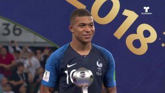 Mbappé es el Mejor Jugador Joven de la Copa del Mundo
