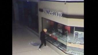 En cámara: el misterioso ladrón con la máscara de Trump