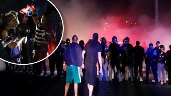 Lanzan gas pimienta contra manifestantes en PR