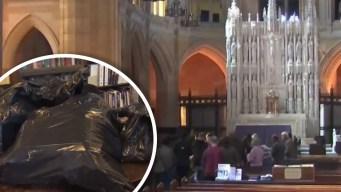 Robaron iglesia y se llevaron inmensa caja fuerte, pero no pudieron con la culpa