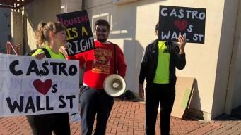 Opositores se manifiestan ante anuncio de Julián Castro