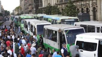Transportistas desquician capital mexicana
