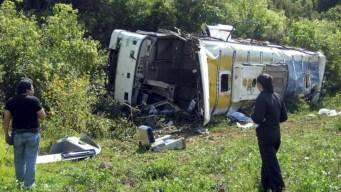 7 muertos y 28 heridos en accidente de autobús