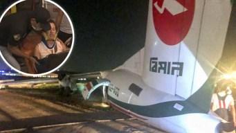 Imágenes: avión derrapa durante aterrizaje; hay heridos