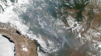 Desde el espacio: así se ven los incendios en el Amazonas