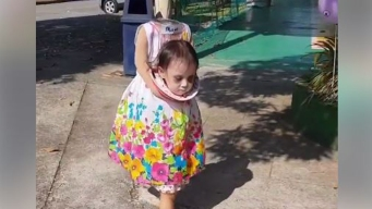 Video: niña causa espanto con su disfraz de Halloween