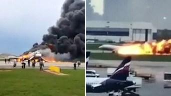 Aterrizaje de avión ruso en llamas: sube cifra de muertos