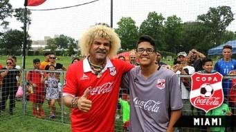 """Carlos """"Pibe"""" Valderrama en Miami con Alianza de Futbol"""