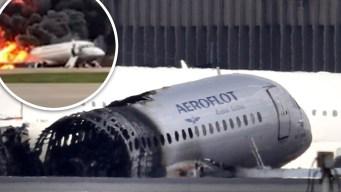 Habla el piloto del avión ruso que estalló en llamas