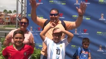 Reacciones de la Copa en Universal Studios