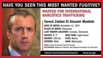 Vicepresidente venezolano entre los más buscados
