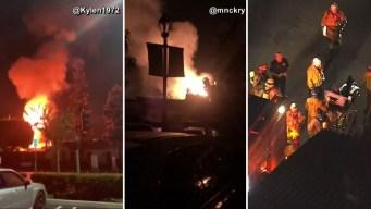 California: bolas de fuego iluminan cielo tras explosiones