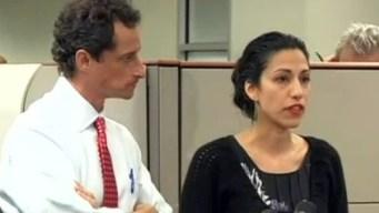 Esposa de Anthony Weiner tira la toalla ante nuevo escándalo