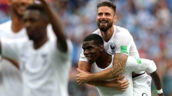 Francia vence a Uruguay 2-0 y se mete en semifinales