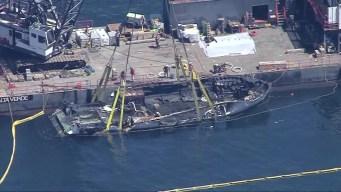 Siguen buscando la causa del incendio en el barco Conception