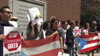 Manifiestan a favor de Puerto Rico en Boston