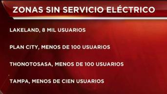 Reportan zonas sin servicio eléctrico en varias zonas