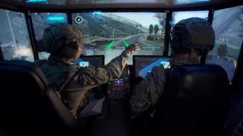 La alucinante cabina del tanque de guerra del futuro