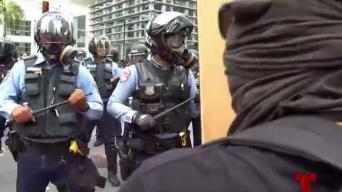 """Policía actuó de forma """"extraordinaria"""" durante la manifestación"""