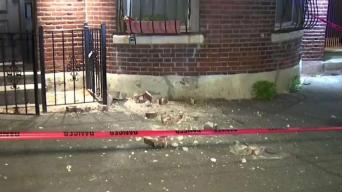 Mujer herida al caerle encima ladrillos de un edificio