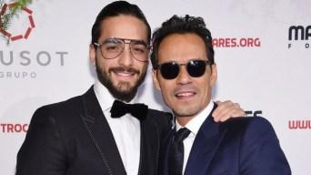 """Maluma explica por qué el """"beso"""" de Marc Anthony le costó $100,000"""
