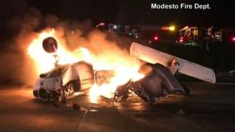 Avioneta acaba en llamas tras aterrizaje forzoso