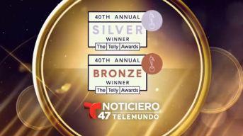 Noticiero 47 Telemundo obtiene tres Premios Telly