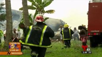 Accidente aéreo en Cuba deja 110 muertos
