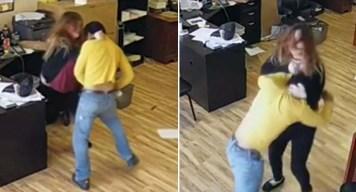 Inquietante video: hispana se enfrenta a ladrón armado