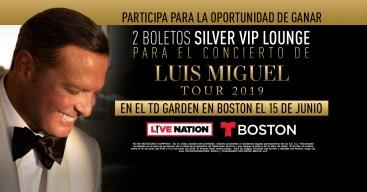 Participa por la oportunidad de ganar boletos para Luis Miguel