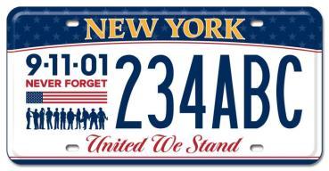 Recuerdan a víctimas del 9/11 con nueva matrícula de vehículos