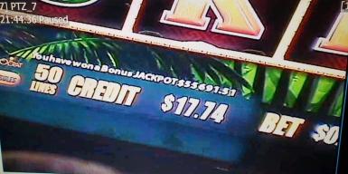 Se gana $55,000 tras apostar .50 centavos