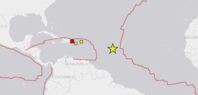 Registran temblor en el océano Atlántico