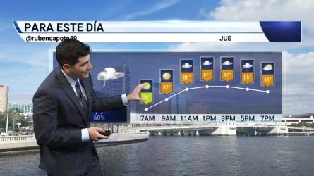Pronóstico del tiempo para  el 18 de Julio en el Área de la Bahía de Tampa