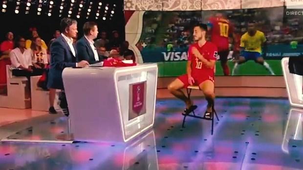 [World Cup 2018 PUBLISHED] Eden Hazard da una entrevista en un HOLOGRAMA y parece 100% real