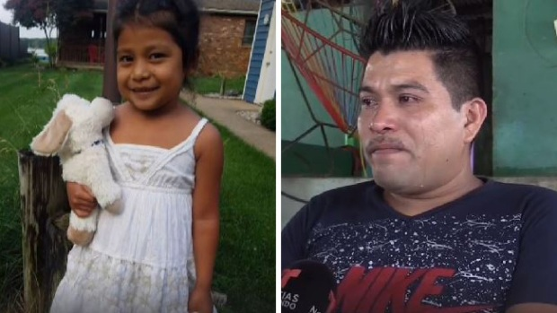 Niña separada de su padre regresa a Guatemala
