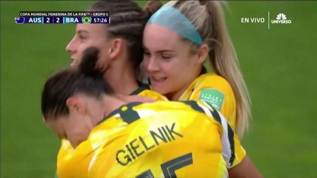 [WWC 2019 - PUBLICADO] Australia no se rinde: Logarzo empata el partido con Brasil a dos goles