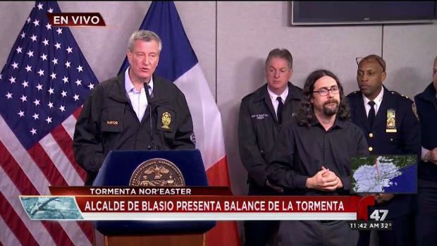 [TLMD - NY] Alcalde de NY presenta balance de la tormenta