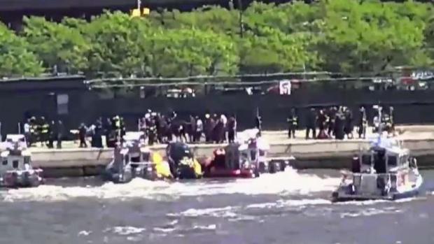 [TLMD - NY] Cae helicóptero al río Hudson