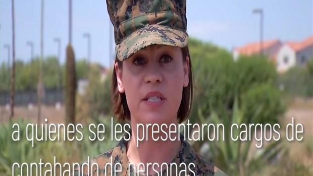 [TLMD - SD] Comandante Kendra Motz habla frente Camp Pendleton de los arrestos