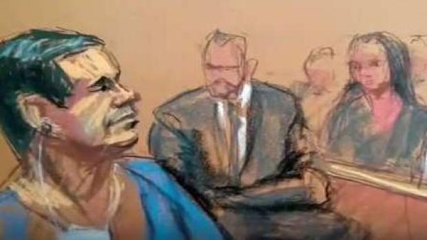 [TLMD - NY] El Chapo: autógrafos y lágrimas al elegir jurado