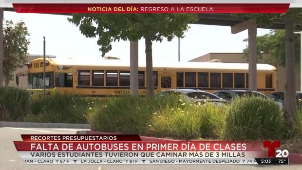 [TLMD - SD] Con menos autobuses inicia el ciclo escolar